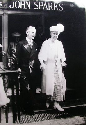 Queen Mary with Peter Sparks, at John Sparks